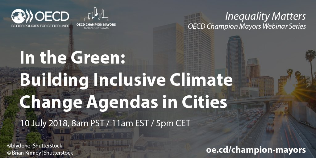 Webinar - In the Green: Building Inclusive Climate Change Agendas in Cities